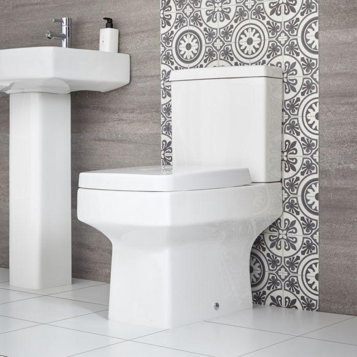 Sanitario Filo Parete Appoggio con Sedile WC con Chiusura Rallentata - Exton