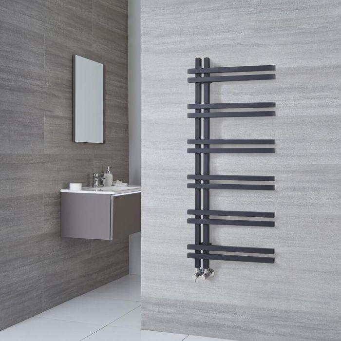 Radiatore Scaldasalviette di Design - Alluminio - Antracite - 1200mm x 500mm - 526 Watt - Tika
