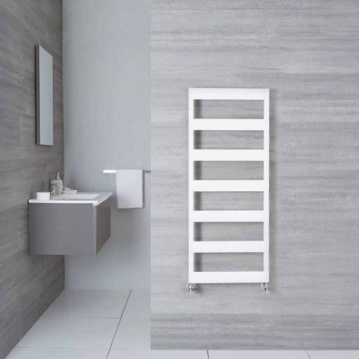 Radiatore Scaldasalviette Piatto - Alluminio - Bianco - 1190mm  x 500mm x 36mm - 531  Watt - Gradus