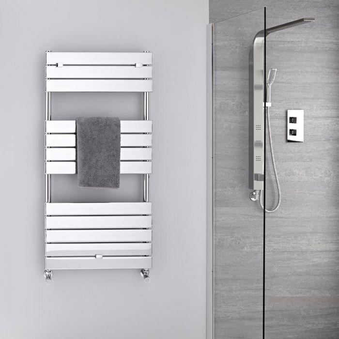 Radiatore Scaldasalviette - Piatto - Cromato - 1213mm x 600mm  - 464 Watt - Lustro