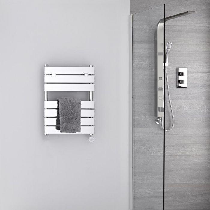 Radiatore Scaldasalviette Elettrico - Piatto - Cromato - 620mm x 450mm - Lustro