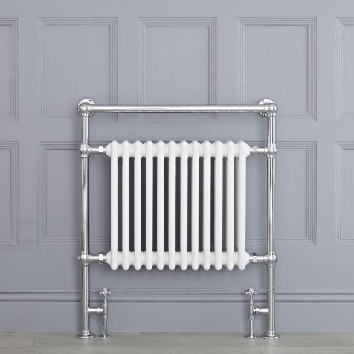 Radiatore Scaldasalviette Tradizionale Bianco - 930mm x 790mm (Barra Porta Salviette Superiore) - Elizabeth