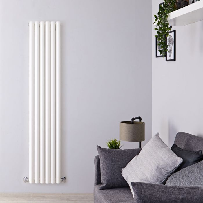 Radiatore di Design Verticale - Bianco - 1780mm x 354mm x 80mm - 1043 Watt - Savy