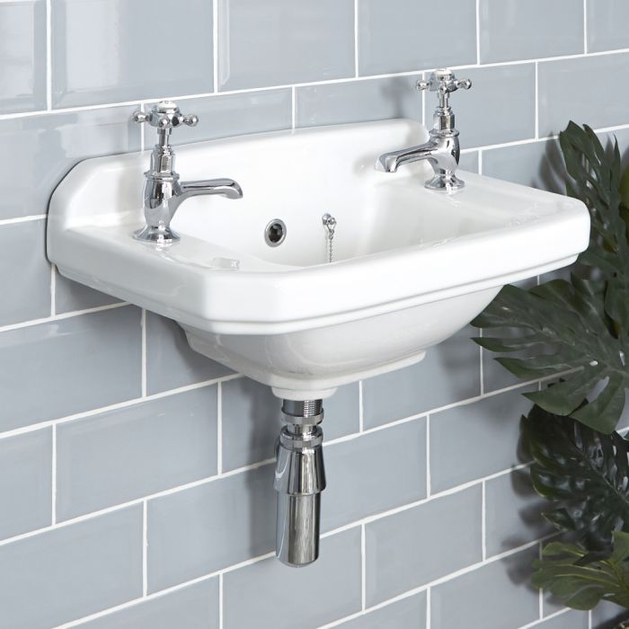 Lavabo Bagno Sospeso Retro 51x30 cm - Richmond