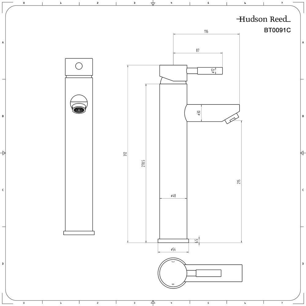 Rubinetto miscelatore alto per lavabo bagno freestanding - Rubinetti per il bagno ...