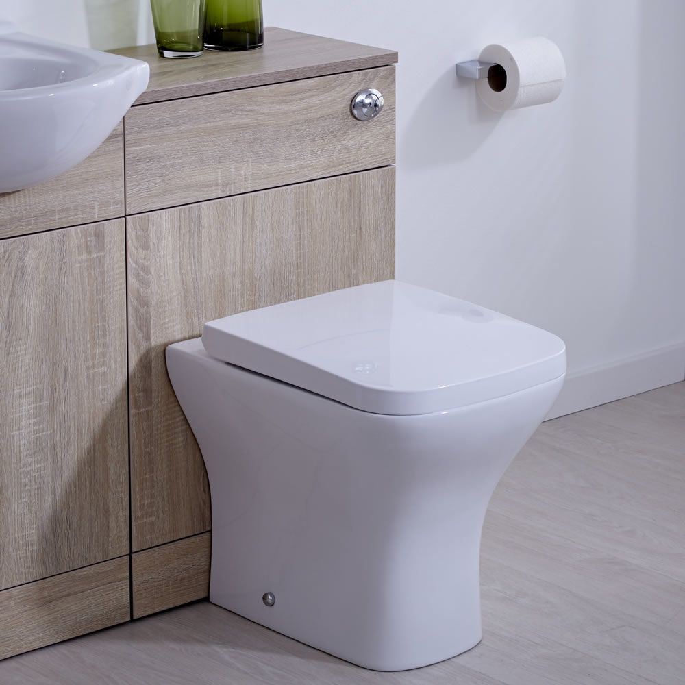 Mobile bagno colore noce con sanitario integrato 76x50x30cm for Gamma sanitarios