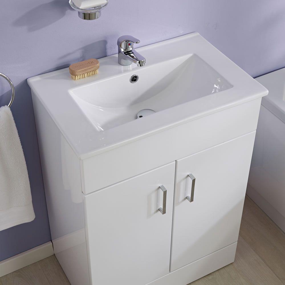 Set Completo per Stanza da Bagno con Vasca 1700mm, Mobile Lavabo e Sanitario