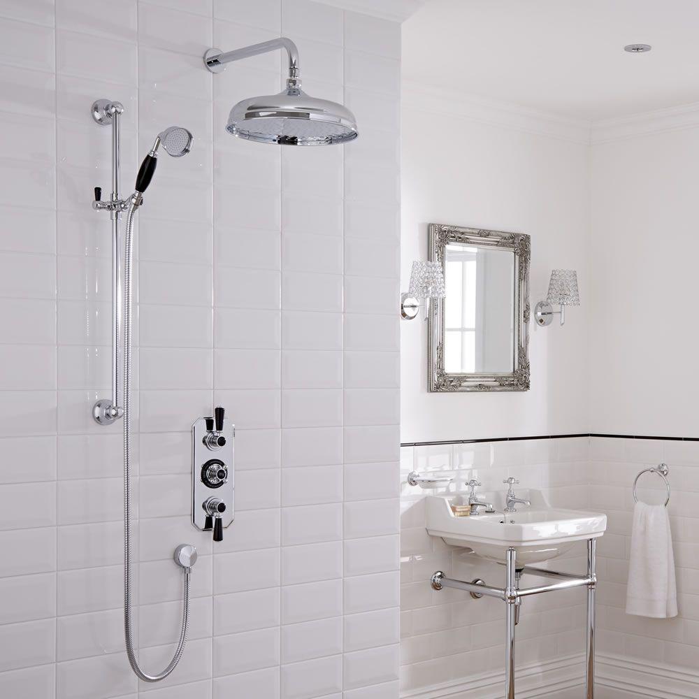 Kit doccia tradizionale completo con miscelatore doccia - Doccia con soffione e doccetta ...