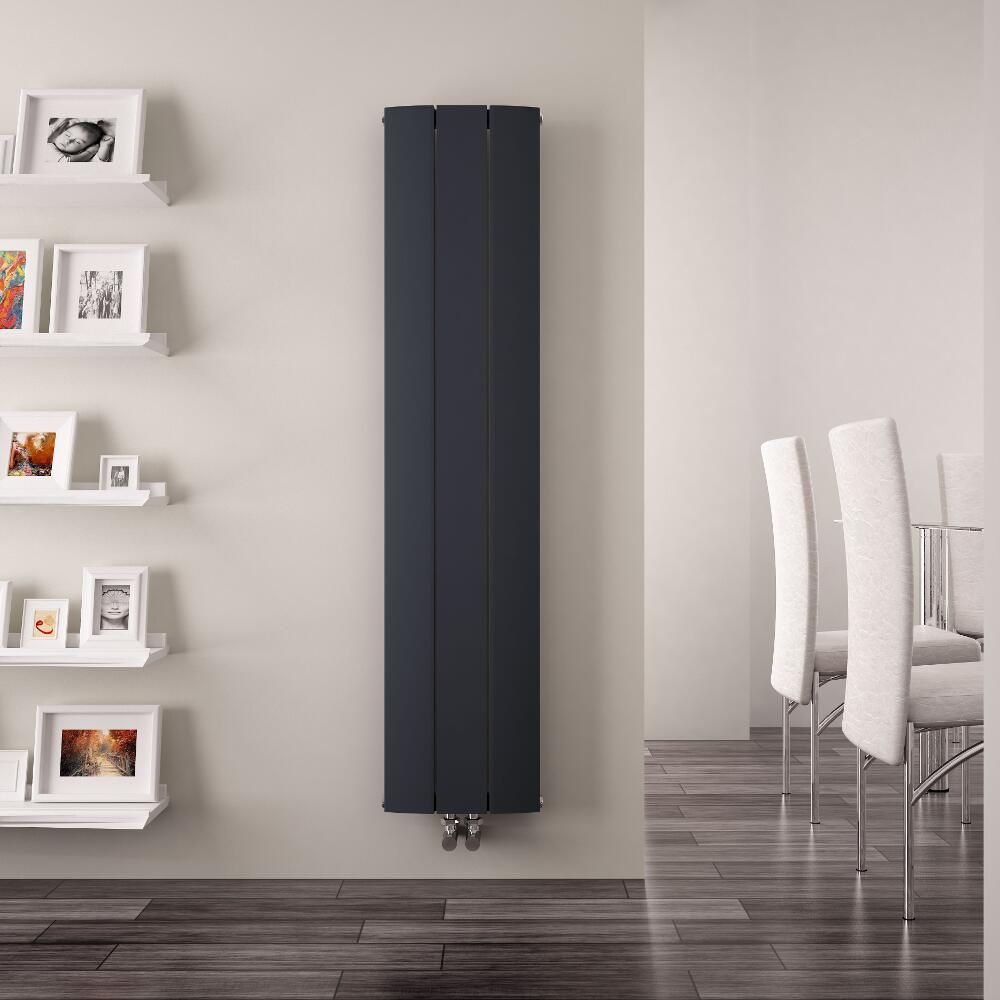 Radiatore di design verticale con attacco centrale for Termosifoni design