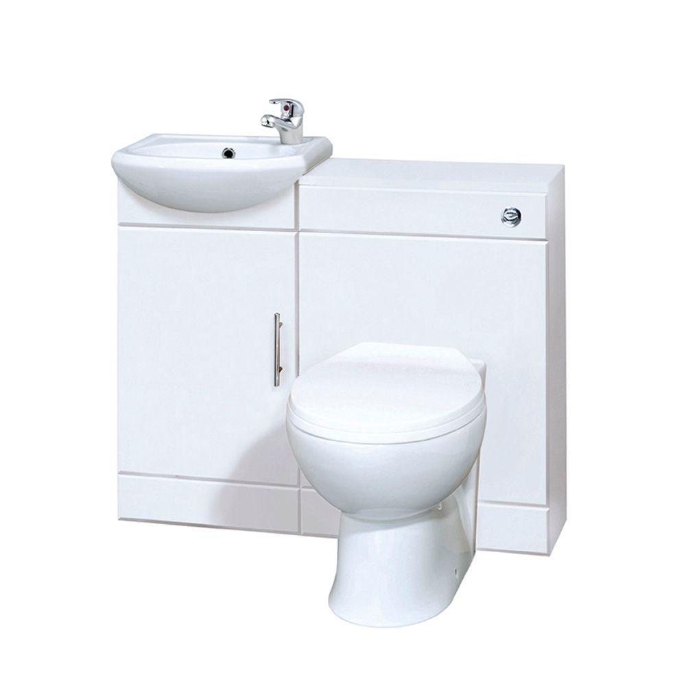 mobile bagno bianco con lavabo e wc. Black Bedroom Furniture Sets. Home Design Ideas