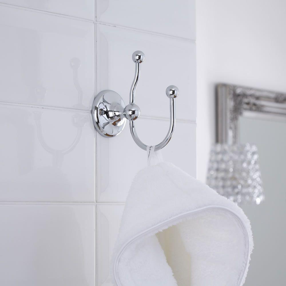 Appendino per accappatoio e appendiabiti tradizionale per stanza da bagno - Appendini bagno ...