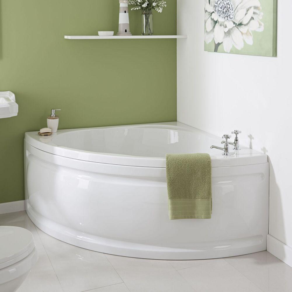Vasca da bagno angolare in acrilico 120x120cm con pannello - Gambe vasca da bagno ...