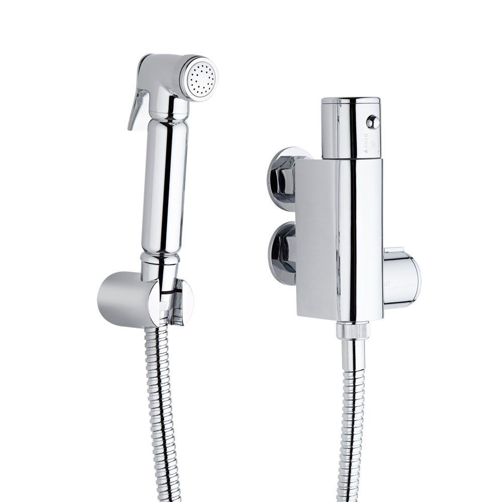 Kit doccetta per wc con miscelatore termostatico for Bidet para wc