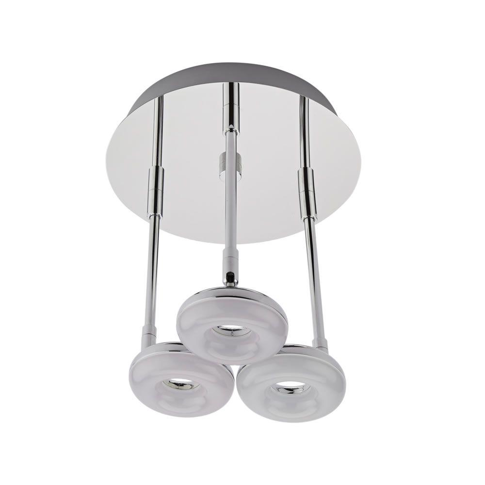 Plafoniera con 3 faretti led 16w a soffitto per stanza da - Plafoniera da bagno ...