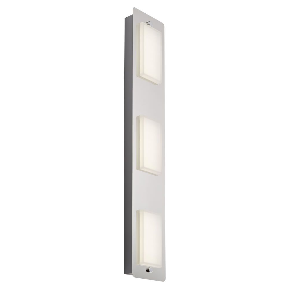 Plafoniera da soffitto rettangolare con 3 faretti led 13w per stanza da bagno glacier - Plafoniera bagno soffitto ...