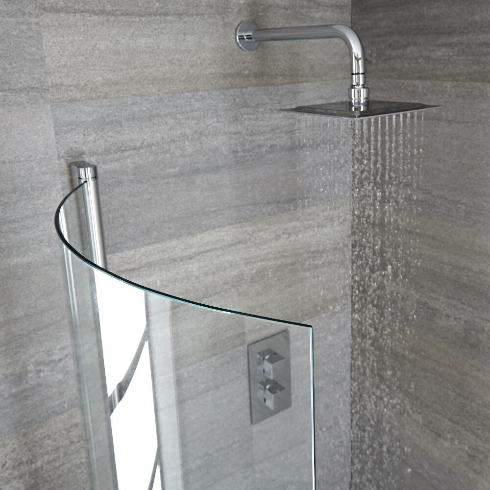 Parete vasca da bagno curva 1450 x 800 portland - Pulire vasca da bagno ...