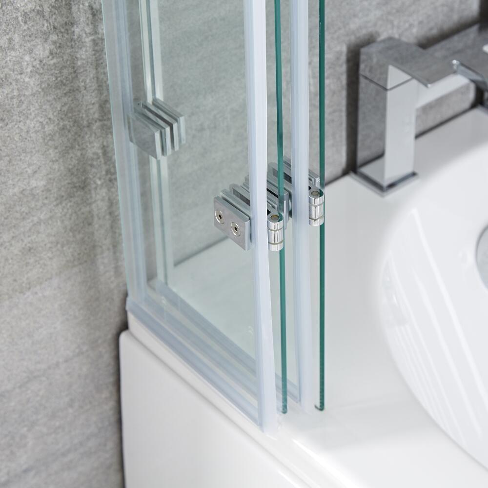 Parete vasca da bagno pieghevole 1400 x 800mm portland - Parete per vasca da bagno ...