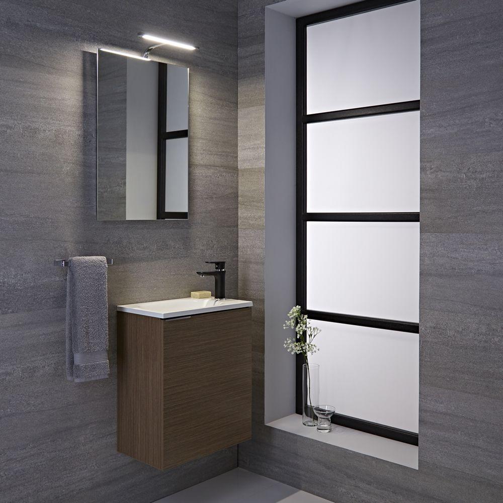 Specchio per stanza da bagno 500x700mm con pensile led biwa - Pensile bagno con specchio ...