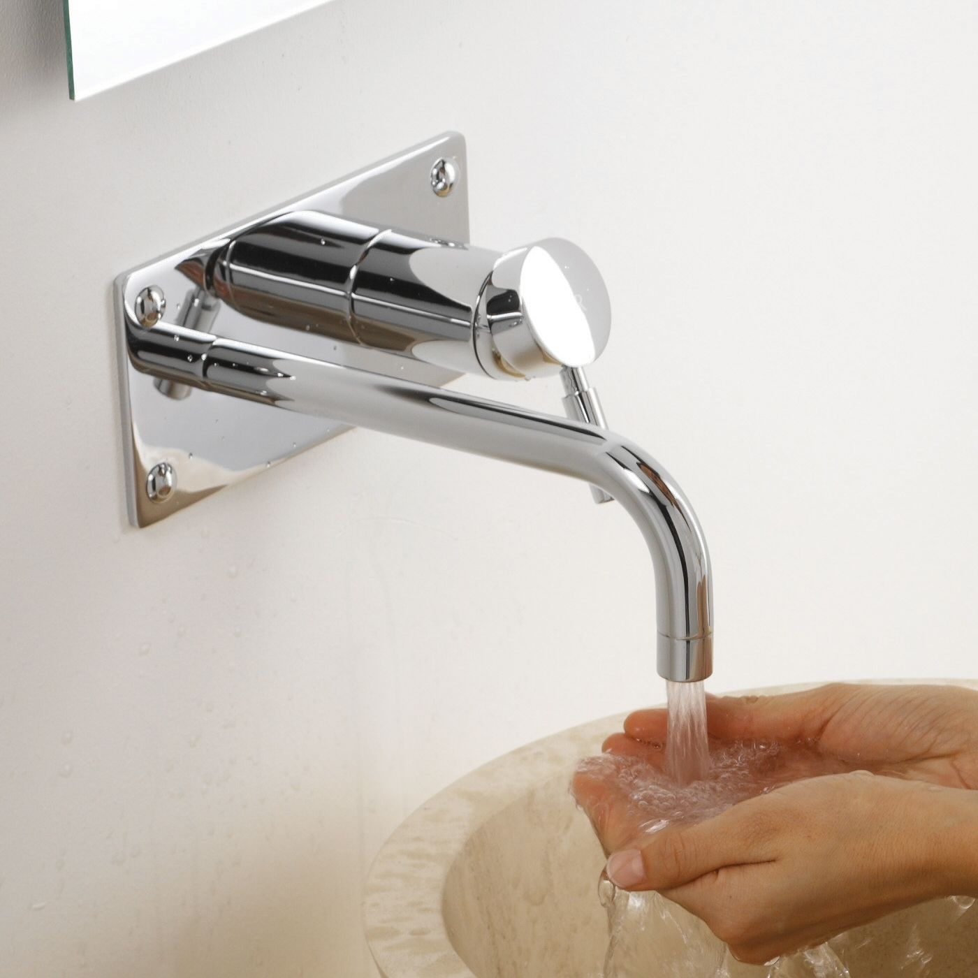 Rubinetto miscelatore per lavabo ad incasso a parete tec - Rubinetto a parete bagno ...