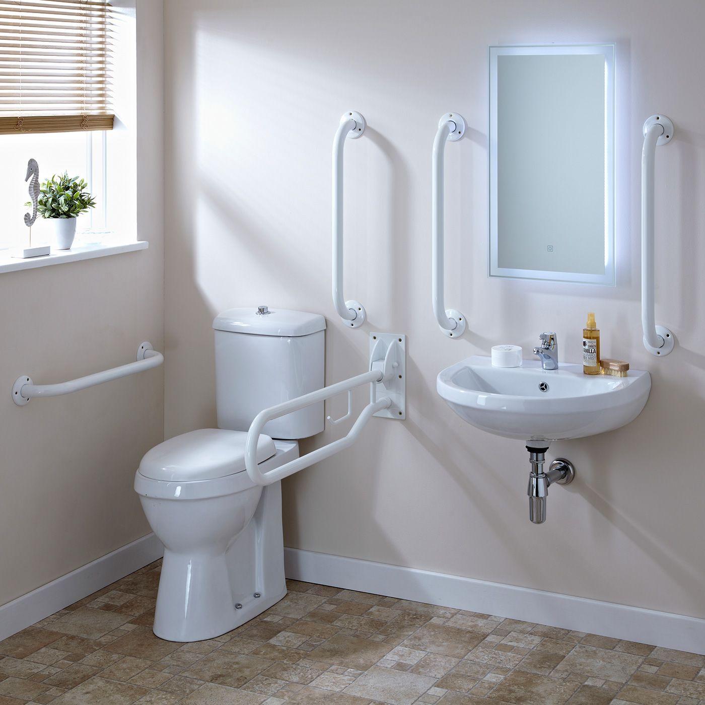 Set bagno completo di lavabo e sanitario per disabili - Obbligo bagno disabili attivita commerciale ...