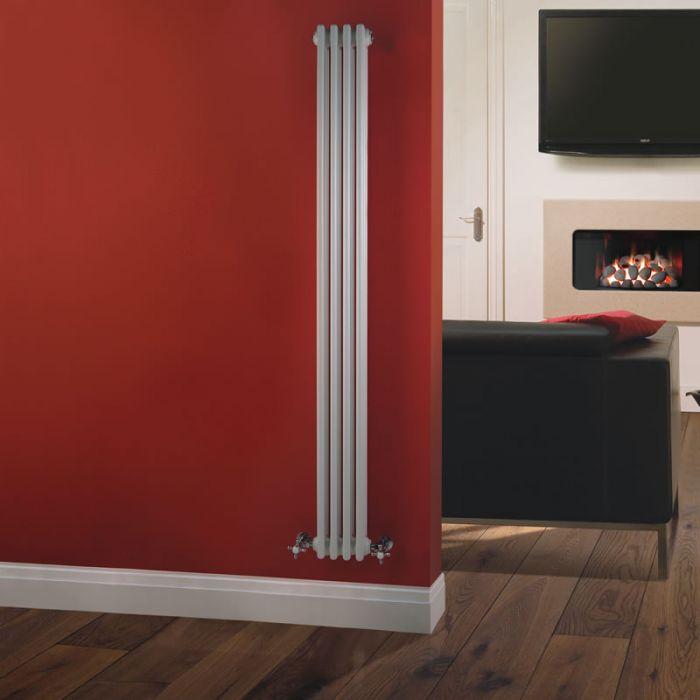 Radiatore di Design Verticale a 3 Colonne Tradizionale - Bianco - 1800mm x 203mm x 100mm - 779 Watt - Regent