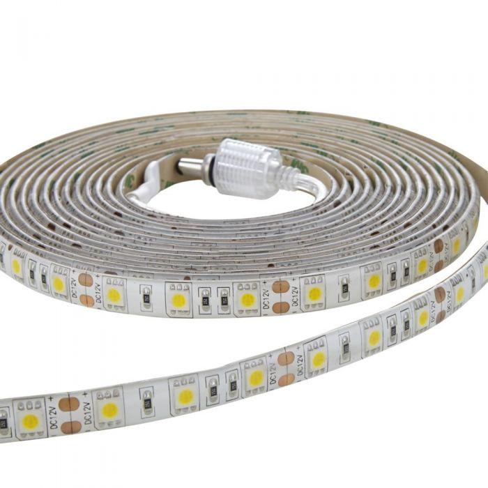 Strisce LED 3528 5 metri Bianco Ultra Caldo - Resistente all'acqua