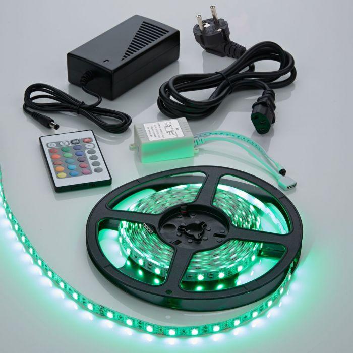 Strisce LED 5050 Bianco Brillante e RGB Rosso Blu e Verde