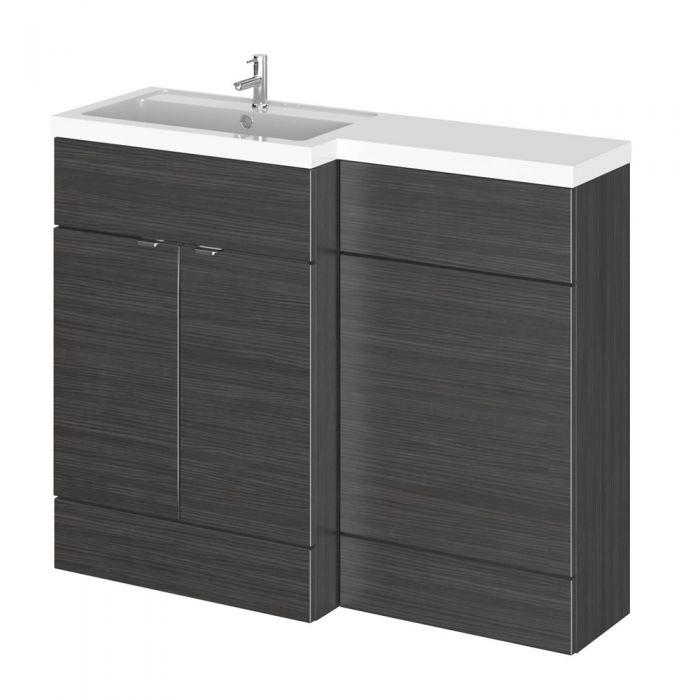 Mobile lavabo con mobiletto per sanitario bagno 1100mm - Lavabo nero bagno ...