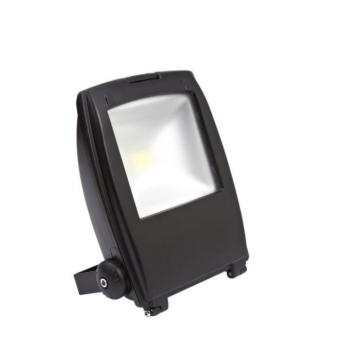 Faro Proiettore LED 30W Bianco Freddo con Struttura Nera