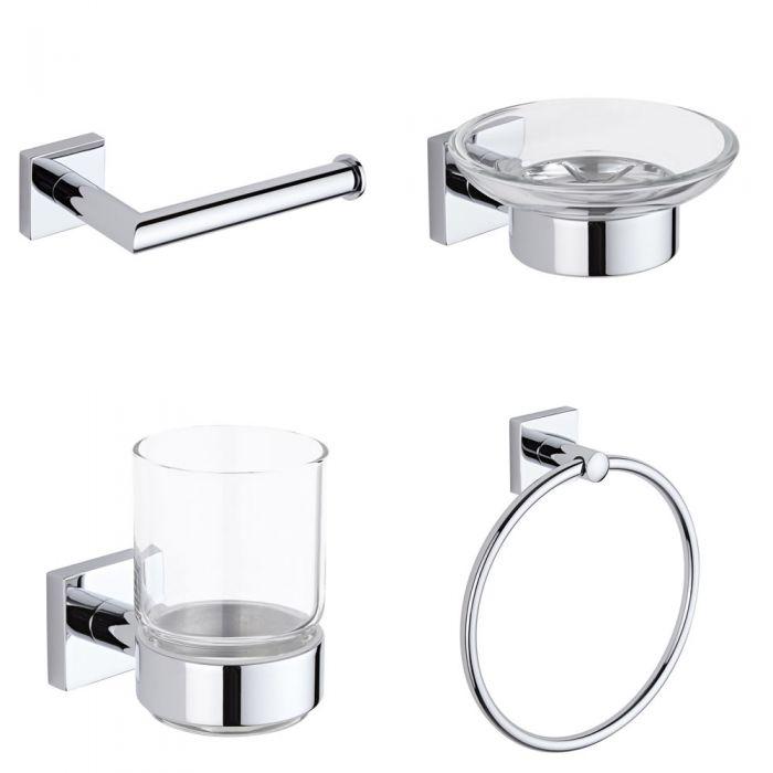 Set di Accessori per Bagno con 4 Articoli - Liso