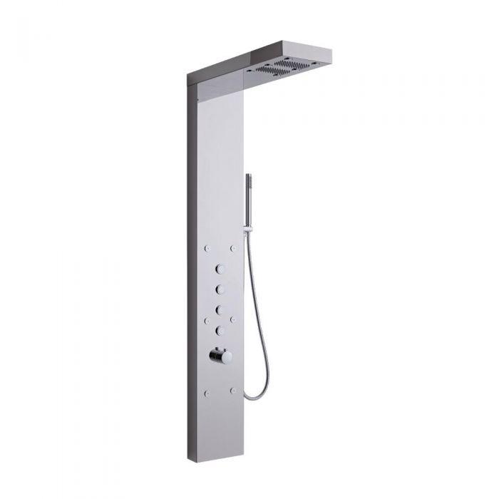 Pannello Doccia Termostatico Multifunzione Acciaio Inox con Nebulizzatore Mist Spray - Grasmere