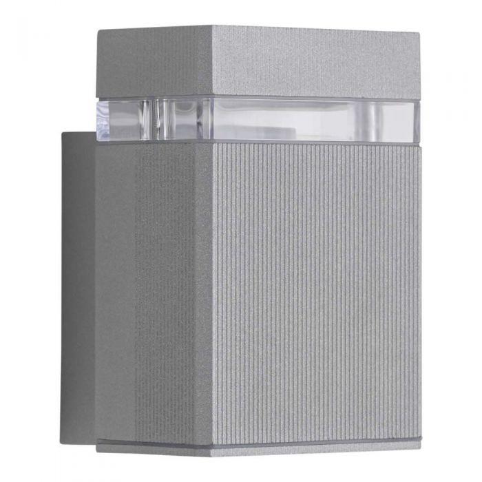 Applique LED Design Quadrato da Parete per Esterno Colore Argento - Architect
