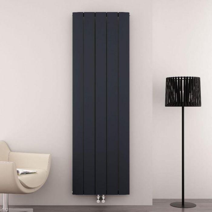 Radiatore di Design Verticale con Attacco Centrale - Alluminio - Antracite - 1800mm x 470mm x 45mm - 1919 Watt - Aurora