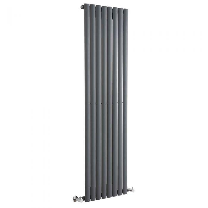 Radiatore di Design Verticale  - Antracite - 1600mm x 472mm x 56mm - 1122 Watt - Revive
