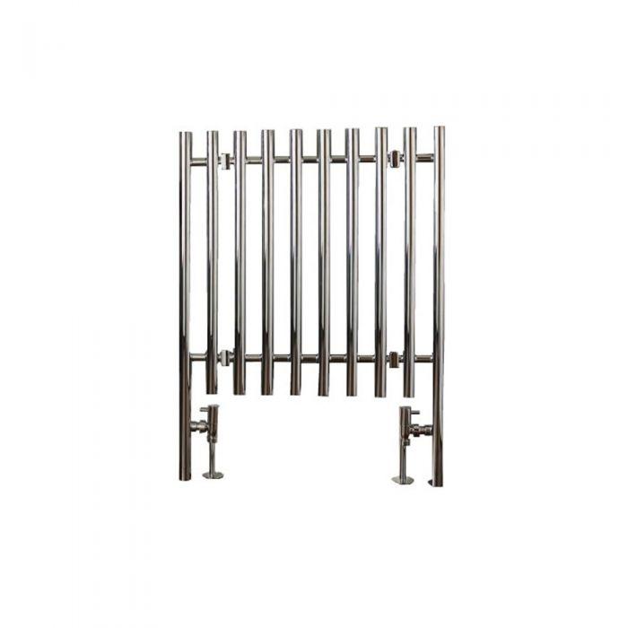 Radiatore Scaldasalviette Curvo - Cromato - 800mm x 600mm x 58mm - 358 Watt - Select