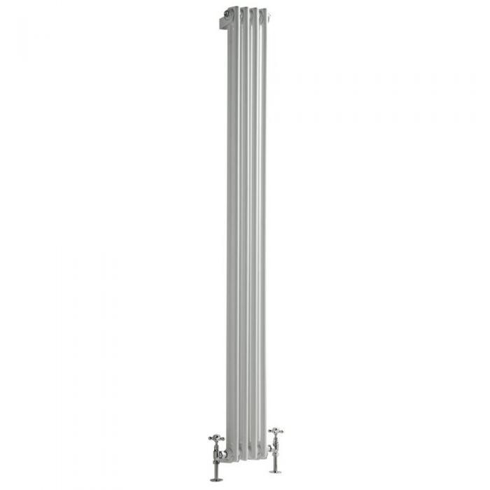 Radiatore di Design Verticale Doppio Tradizionale - Bianco - 1800mm x 203mm x 68mm - 622 Watt - Regent