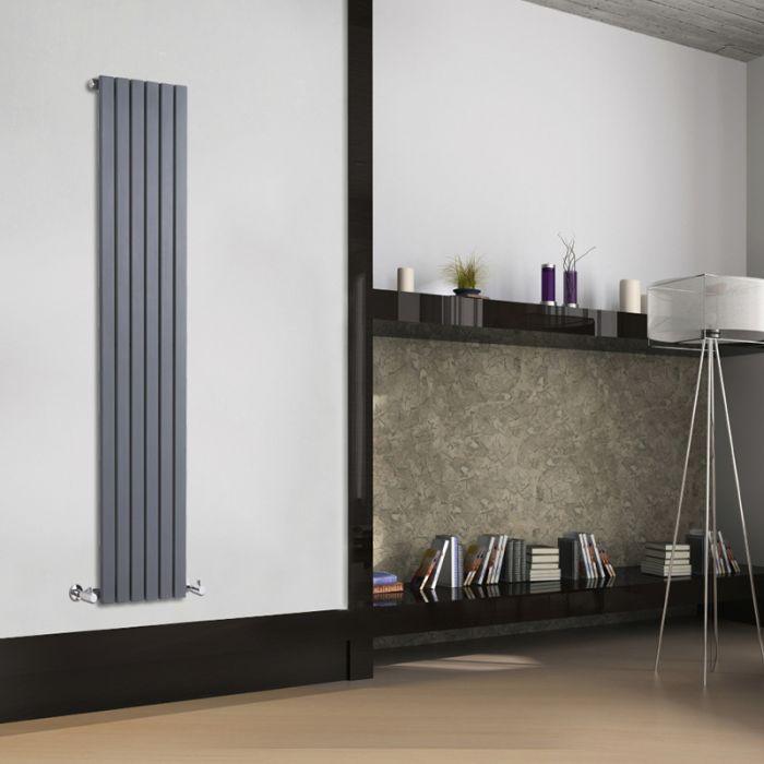 Radiatore di Design Verticale  - Antracite - 1600mm x 354mm x 54mm - 862 Watt - Sloane