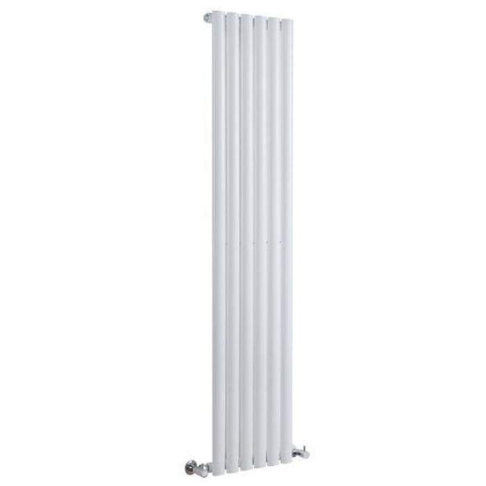 Radiatore di Design Verticale - Bianco - 1780mm x 354mm x 56mm - 892 Watt - Revive