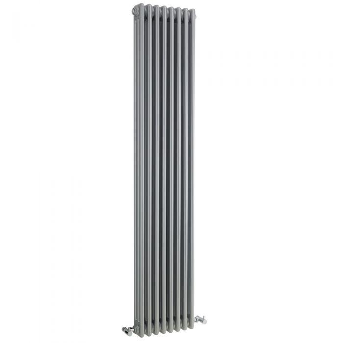 Radiatore di Design Verticale a 3 Colonne Tradizionale - Argento - 1800mm x 381mm x 100mm - 2411 Watt - Regent