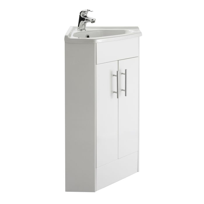 Mobile lavabo bagno ad angolo con 2 ante - Lavabo ad angolo ...