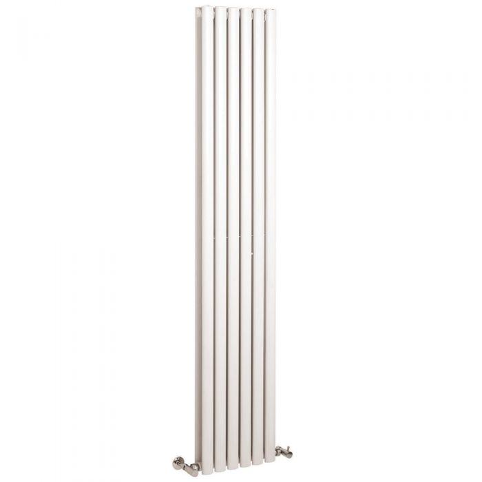 Radiatore di Design Verticale Doppio -Acciaio - Revive Bianco -2.200 Watt - 1800mm x 354mm