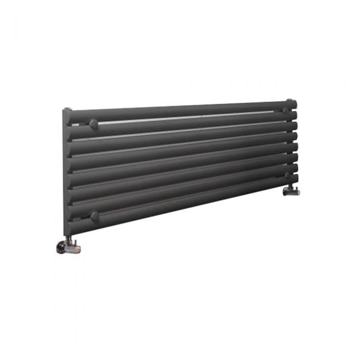Radiatore di Design Orizzontale  - Antracite - 472mm x 1780mm x 56mm - 1162 Watt - Revive