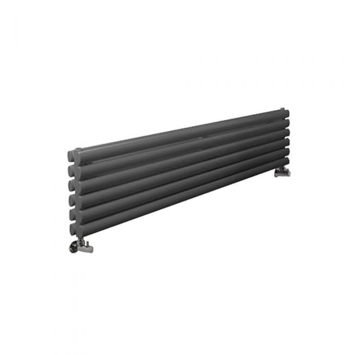 Radiatore di Design Orizzontale Doppio - Antracite - 354mm x 1780mm x 78mm - 1325 Watt - Revive