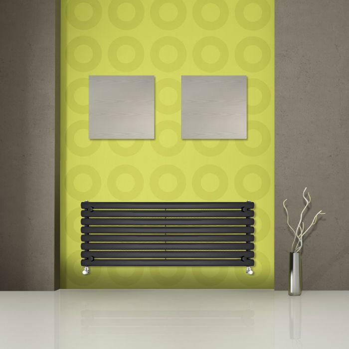 Radiatore di Design Orizzontale  - Nero - 472mm x 1600mm x 56mm - 1065 Watt - Revive