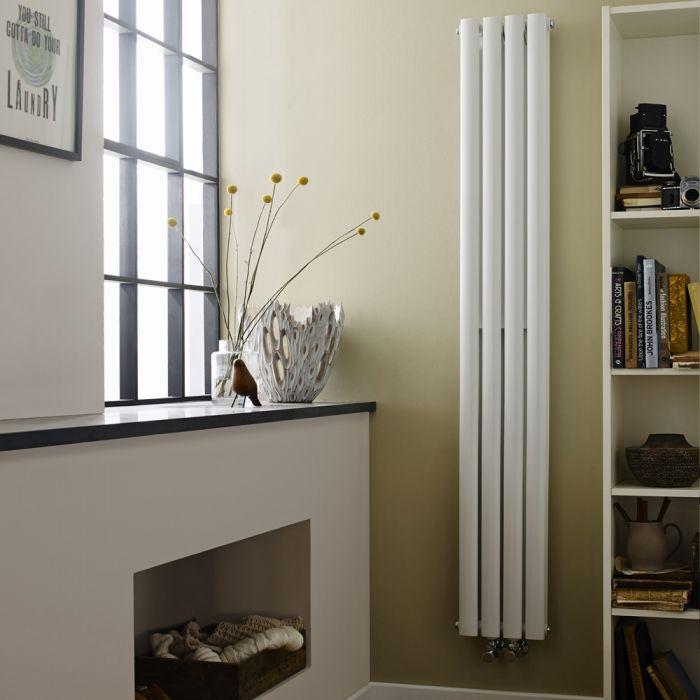 Radiatore di Design Verticale Doppio - Acciaio - Revive Bianco - 810 Watt - 1800mm x 236mm