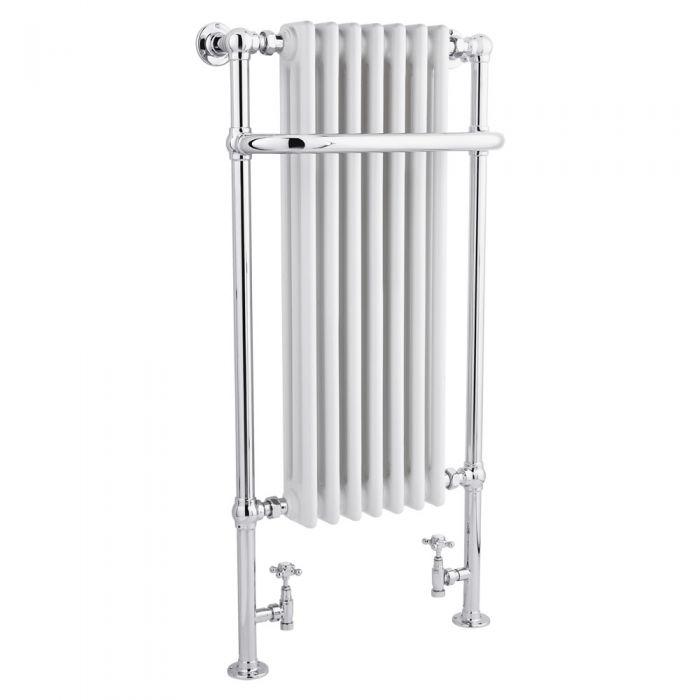 Scaldasalviette Tradizionale - Acciaio - Cromato e Bianco - 1130mm x 553mm - 960 Watt