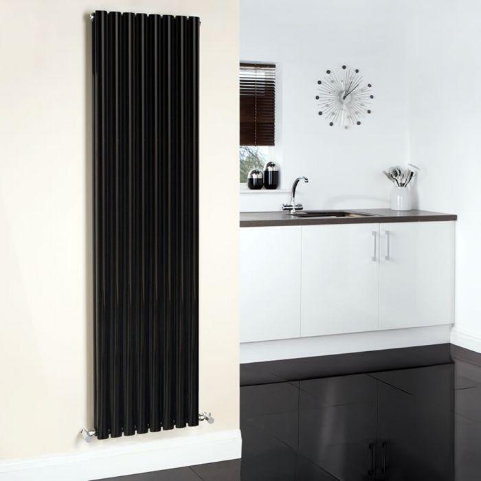 Radiatore di Design Verticale Doppio - Nero - 1780mm x 47278mm - 1868 Watt - Revive