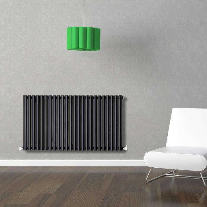 Radiatore di Design Orizzontale  - Nero - 635mm x 1411mm x 56mm - 1433 Watt - Revive