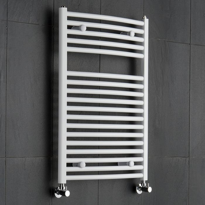 Radiatore Scaldasalviette Curvo - Bianco - 800mm x 600mm x 52mm - 592 Watt - Etna