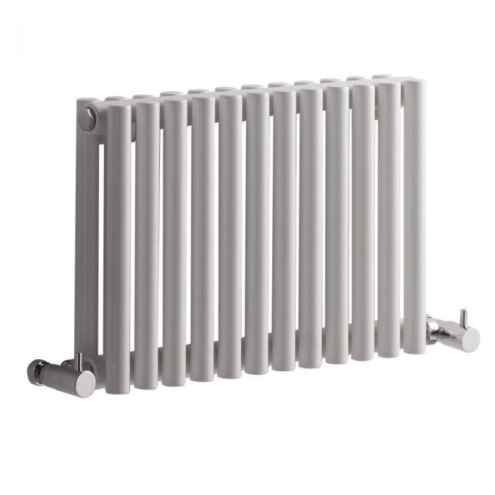 Radiatore di Design Orizzontale Doppio - Bianco - 300mm x 456mm x 78mm - 372 Watt - Revive